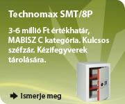 Kézifegyverek tárolására alkalmas széf elektronikus zárral, Technomax SMT!