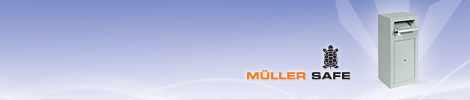 Válassza a Müller PT bedobós bútorszéfet a napi bevétel biztonságos tárolására!