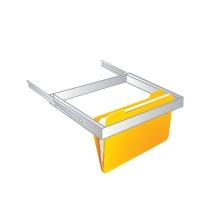 Pull out hanging folder holder - safe accessory