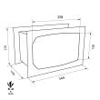TECHNOSAFE TE/3B faliszéf méretezett rajz