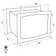 TECHNOMAX GOLD GK/6L faliszéf méretezett rajz