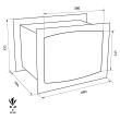 TECHNOMAX GOLD GD/6L faliszéf méretezett rajz