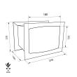 TECHNOMAX GOLD GT/1 faliszéf méretezett rajz