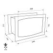 TECHNOMAX GOLD GT/3B faliszéf méretezett rajz