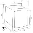 TECHNOMAX GOLD GT/7L faliszéf méretezett rajz