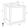 FORMAT Wega 40-380 faliszéf méretezett rajz