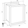 FORMAT Wega 50-380 faliszéf méretezett rajz