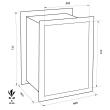 FORMAT Wega 60-380 faliszéf méretezett rajz