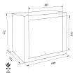 FORMAT MBF 3 lemezszekrény méretezett rajz