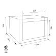 FORMAT MT 410 lemezszekrény méretezett rajz