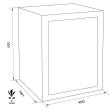 MÜLLER SAFE PT3 bútorszéf méretezett rajz