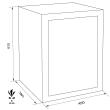 MÜLLER SAFE ET3 bútorszéf méretezett rajz