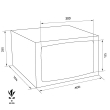 TECHNOMAX GOLD GMK/4 bútorszéf méretezett rajz