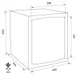 TECHNOMAX GOLD GMK/7 bútorszéf méretezett rajz