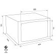 TECHNOMAX GOLD GMC/4 bútorszéf méretezett rajz