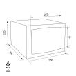 TECHNOMAX GOLD GMT/3 bútorszéf méretezett rajz
