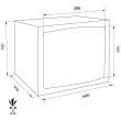 TECHNOMAX GOLD GMT/6 bútorszéf méretezett rajz