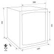 TECHNOMAX GOLD GMT/7 bútorszéf méretezett rajz