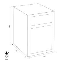 MÜLLER SAFE MP 2 bedobós értékszéf méretezett rajz