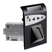 INSYS LOCKS TwinLock B700 BioPIN S 1.1 elektronikus széfzár készlet, VdS 2
