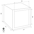 FORMAT Topas Pro 10 páncélszekrény méretezett rajz