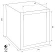 FORMAT Rubin Pro 10 páncélszekrény méretezett rajz