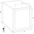 FORMAT Rubin Pro 15T páncélszekrény méretezett rajz