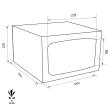 TECHNOSAFE MTK/3 bútorszéf méretezett rajz