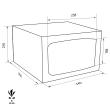 TECHNOSAFE MTE/3 Möbeltresor Maßzeichnung