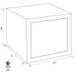 WERTHEIM CWP 0651 páncélszekrény méretezett rajz