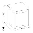 TECHNOFIRE DPE/7P tűzálló kombinált irattároló méretezett rajz